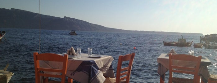 Katina Restaurant is one of Santorini + Mykonos.