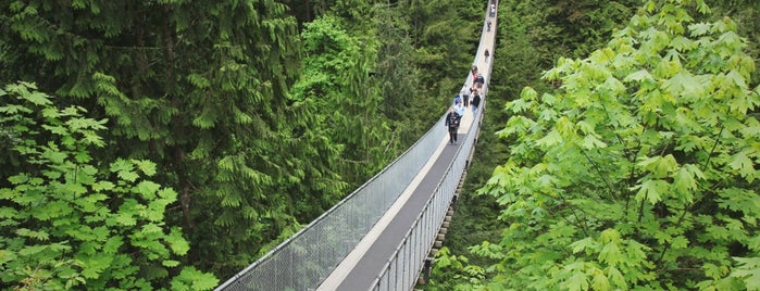 Capilano Suspension Bridge is one of Vancouver.
