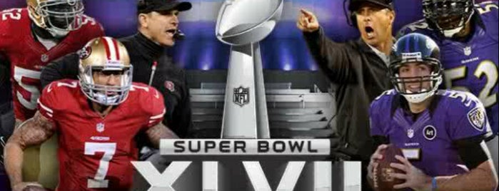 Super Bowl XLVII is one of Centros sociais ..