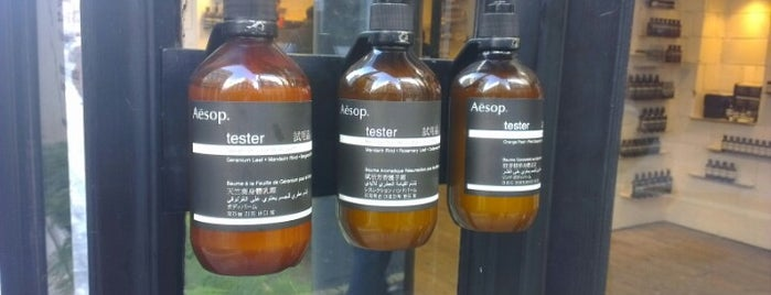 Aesop Soho is one of London.