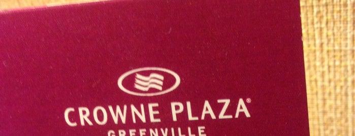 Crowne Plaza Greenville-I-385-Roper Mtn Rd is one of Tempat yang Disukai Lívia.