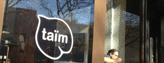 Taïm Falafel and Smoothie Bar is one of Bowery Ballroom.