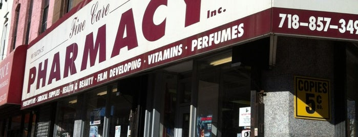 Fine Care Pharmacy is one of Clinton Hill Neighborhood Guide.