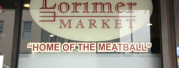 Lorimer Market is one of Meatball Sandwich Research.