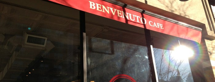 Benvenuto Cafe Tribeca is one of Posti salvati di Emily.