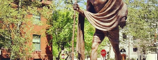 Mahatma Gandhi Statue is one of DMV Landmarks.