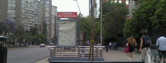 Metro Pedro de Valdivia is one of Minha Santiago (Chile).