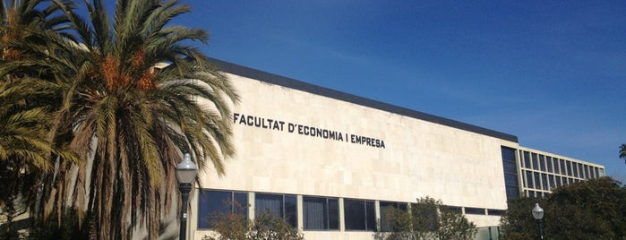 Facultat d'Economia i Empresa UB is one of Barcelona.
