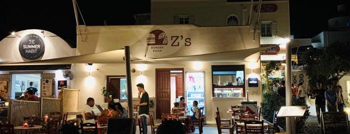 Z's is one of Santorini.