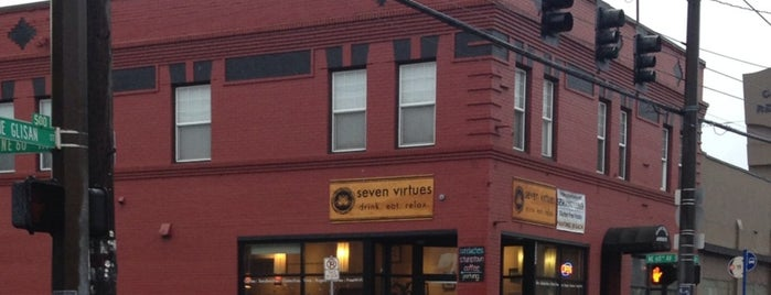 Seven Virtues Coffee Roasters is one of Portland Faves.
