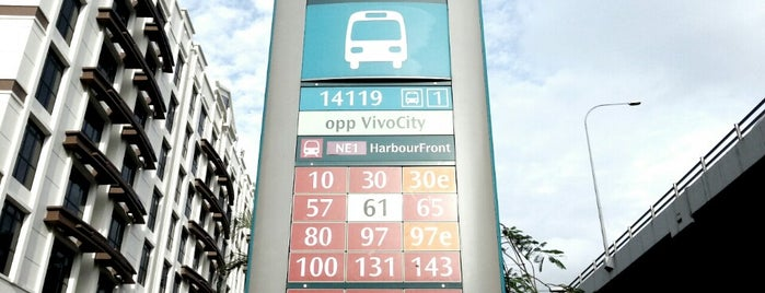 Bus Stop 14119 (Opp VivoCity) is one of Transport SG.