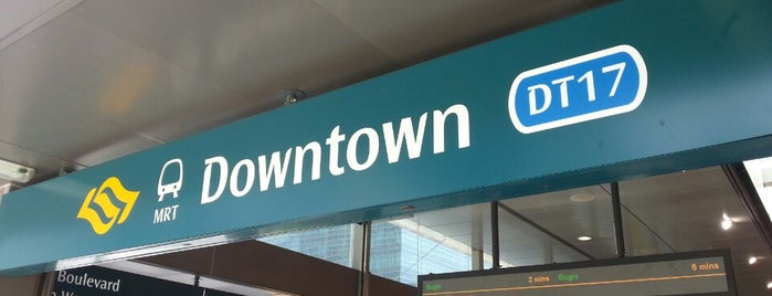 Downtown MRT Station (DT17) is one of Singapore: business while travelling.