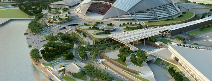 """Singapore Sports Hub is one of TPD """"The Perfect Day"""" Singapore (1x0)."""