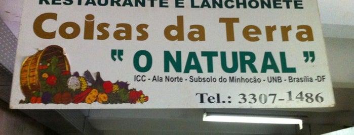 "Restaurante e Lanchonete Coisas da Terra ""O Natural"" is one of Brasília Veggie."