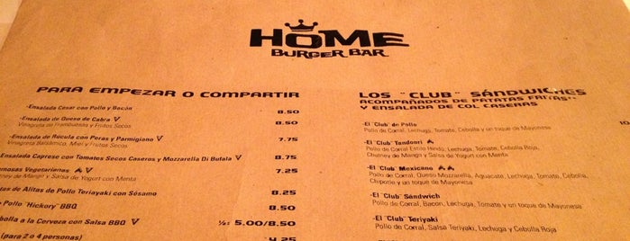 Home Burger Bar is one of Madrid.