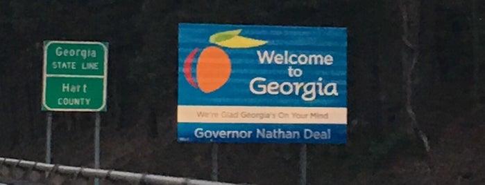 Georgia / South Carolina State Line is one of 🇬🇧Alphonso'nun Beğendiği Mekanlar.