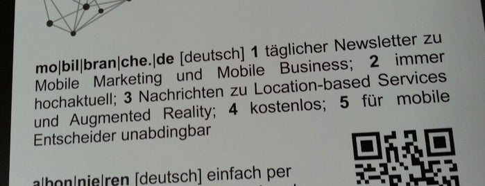 mobilbranche.de Headquarter is one of Cool Business Locations.