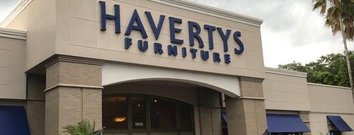 Havertys Furniture is one of สถานที่ที่ Bev ถูกใจ.