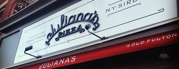 Juliana's Pizza is one of NYC Recs.