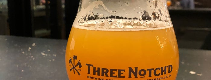 Three Notch'd Craft Kitchen & Brewery is one of Charlottesville.