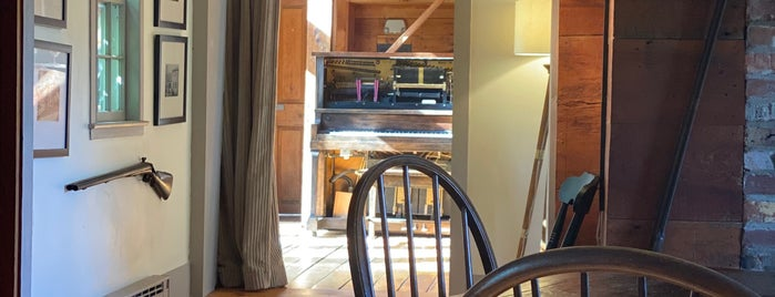 The Squire Tarbox Inn Restaurant is one of F&W's Coziest Restaurant.