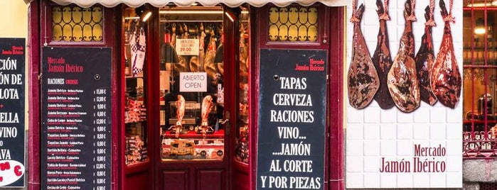 Mercado Jamón Iberico is one of Spain.