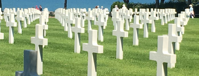 Normandy American Cemetery is one of CBS Sunday Morning 5.