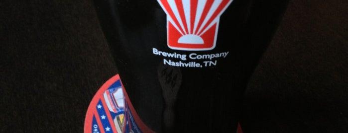 Corsair Distillery & Taproom is one of Best Nashville bars.