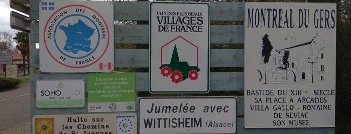 Montrèal en Gers is one of Les chemins de Compostelle.