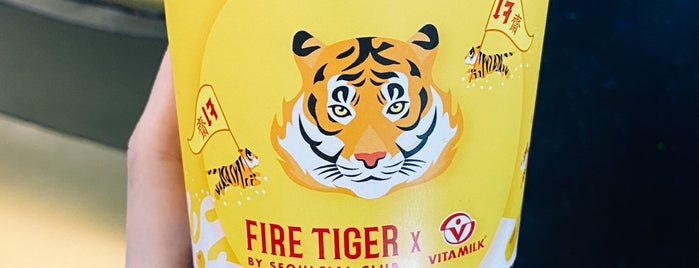 Fire Tiger by Seoulcial Club is one of BKK_Tea/ Chocolate/ Juice Bar.