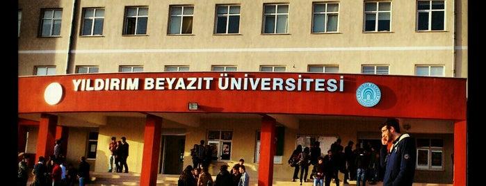 Yıldırım Beyazıt Üniversitesi Etlik Kampüsü is one of Ankara'daki Üniversiteler.