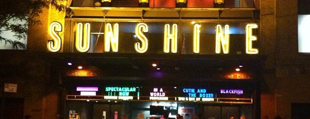 Landmark's Sunshine Cinema is one of USA.