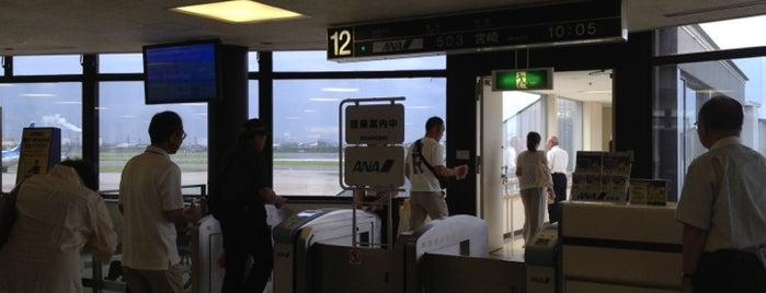 Gate 12 is one of 大阪国際空港(伊丹空港) 搭乗口 ITM gate.