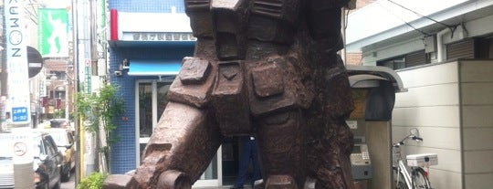 "Gundam monument statue ""From the Earth"" is one of Tokyo."