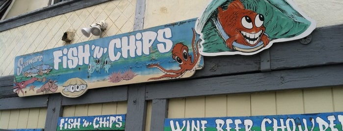 Seaward Fish 'n' Chips is one of Tempat yang Disukai AmberChella.