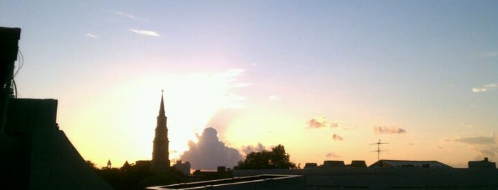 The Rooftop Bar at Vendue is one of Best Locations for Sunsets.