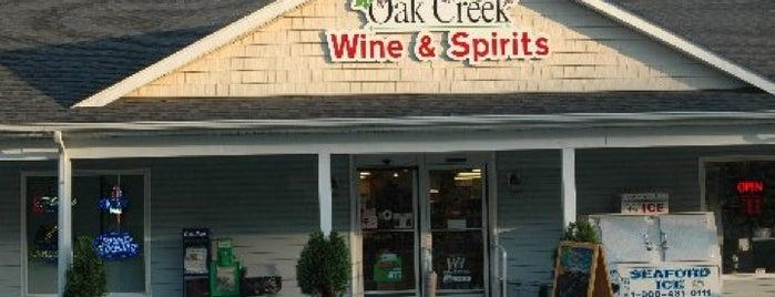 Oak Creek Wine & Spirits is one of Delaware spots.