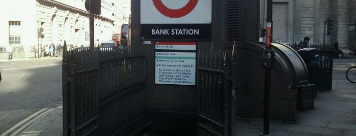 Bank London Underground and DLR Station is one of Underground Stations in London.