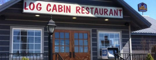 Log Cabin Restaurant is one of Lugares favoritos de Zachary.