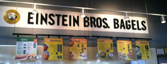 Einstein Bros Bagels is one of Check these places out .