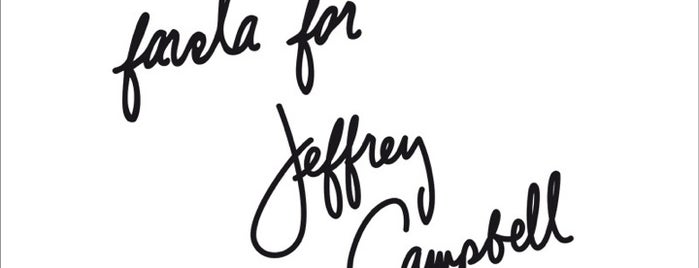 Favela for Jeffrey Campbell is one of Athen.