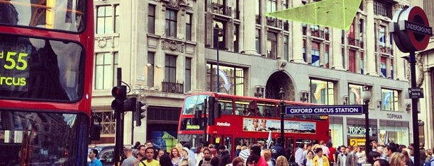 Oxford Circus is one of Guide To London's Best Spot's.