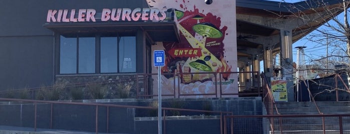 Grindhouse Killer Burgers is one of Hilton dining.