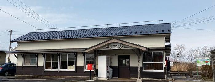 Mutsu-Morita Station is one of JR 키타토호쿠지방역 (JR 北東北地方の駅).