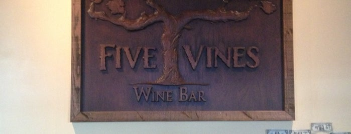 Five Vines Wine Bar is one of San Juan Capistrano.