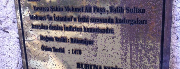 Yavaşça Şahin Mehmet Ali Paşa Camii is one of 1-Fatih to Do List | Spiritüel Merkezler.