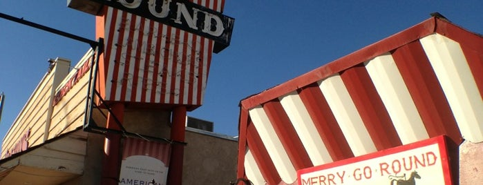 Margie's Merry Go Round Restaurant is one of Central CALIFORNIA vintage signs.
