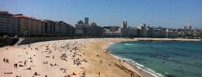 Praia de Riazor is one of Playas de España: Galicia.