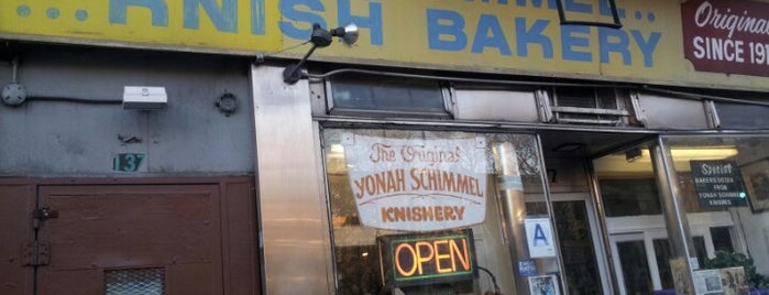 Yonah Schimmel Knish Bakery is one of Eating Manhattan II.