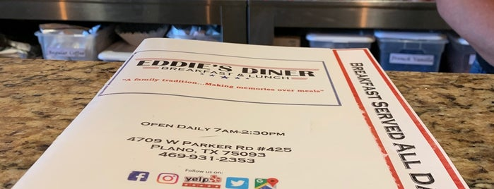 Eddie's Diner is one of Restaurants To Try - Dallas.